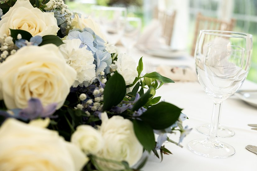 scene at a country house wedding venue